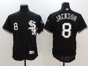 Mens Majestic Chicago White Sox #8 Bo Jackson Black Flex Base Jersey