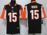 Mens Cincinnati Bengals #15 John Ross Black Limited Jersey