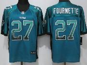Mens Nfl Jacksonville Jaguars #27 Leonard Fournette Drift Fashion Blue Elite Nike Jersey