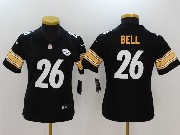 Women Youth Nfl Pittsburgh Steelers #26 Le'veon Bell Black Vapor Untouchable Limited Jersey