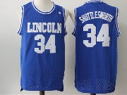 Mens Nba Movie Lincoln He Got Game #34 Jesus Shuttlesworth Blue Jersey