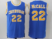 Mens Nba Movie Crenshaw High School Love&basketball #22 Quincy Mccall Blue Jersey