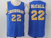 Mens Nba Movie Crenshaw High School Love&basketball #22 Quincy Mccall Blue Jersey