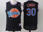 Mens Nba Space Jam Tune Squad #30 Stephen Curry Black Jersey