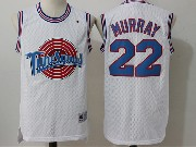 Mens Nba Space Jam Tune Squad #22 Murray White Jersey