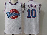 Mens Nba Space Jam Tune Squad #10 Lola White Jersey