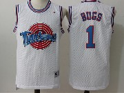 Mens Nba Space Jam Tune Squad #1 Bugs White Jersey