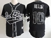 Mens Nba Biggie Smalls Bad Boy #10 Movie Black Baseball Jersey