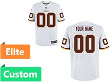 Nfl Washington Redskins (custom Made) White Elite Jersey