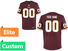 Nfl Washington Redskins (custom Made) Red Elite Jersey