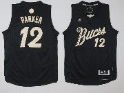 Mens Nba Milwaukee Bucks #12 Jabari Parker Black Jersey