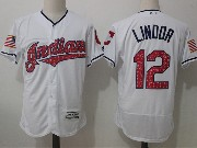 Mens Majestic Los Angeles Angels #12 Martin Maldonado White Stars & Stripes Flex Base Jersey
