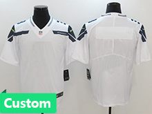 Nfl Mens Women Youth Seattle Seahawks Custom Made White Vapor Untouchable Limited Jersey