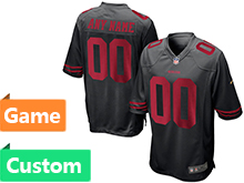 Mens Nfl San Francisco 49ers (custom Made) Black Game Jersey