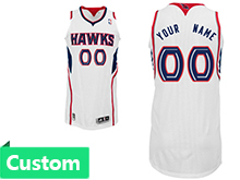Mens Women Youth Nba Atlanta Hawks Custom Made White Jersey