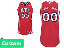 Mens Women Youth Nba Atlanta Hawks Custom Made Red Alternate Jersey