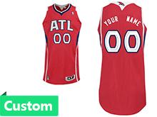 Mens Women Youth Nba Atlanta Hawks Custom Made Red Alternate Jersey