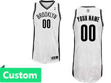 Mens Women Youth Nba Brooklyn Nets (custom Made) White Revolution 30 Mesh Jersey