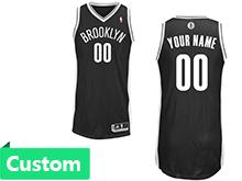 Mens Women Youth Nba Brooklyn Nets (custom Made) Black Revolution 30 Mesh Jersey