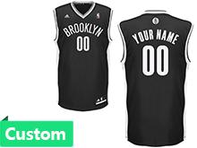 Mens Women Youth Nba Brooklyn Nets (custom Made) Black Jersey