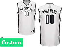 Mens Women Youth Nba Brooklyn Nets (custom Made) White Jersey