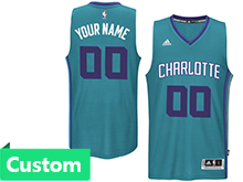 Mens Women Youth Nba Charlotte Hornets (custom Made) Teal Revolution 30 Mesh Jersey