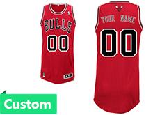 Mens Women Youth Nba Chicago Bulls (custom Made) Red Revolution 30 Mesh Jersey