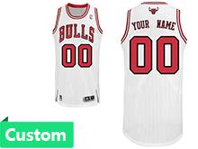 Mens Women Youth Nba Chicago Bulls (custom Made) White Revolution 30 Mesh Jersey