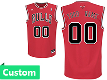 Mens Women Youth Nba Chicago Bulls (custom Made) Red Jersey