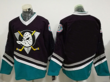 Mens Ccm Nhl Anaheim Mighty Ducks Blank Black Throwback Jersey