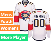 Mens Women Youth Reebok Florida Panthers White Away 2016 Premier Current Player Jersey