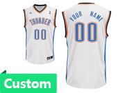 Mens Women Youth Nba Oklahoma City Thunder Custom Made White Home Jersey