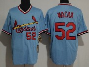 Mens Majestic St.louis Cardinals #52 Michael Wacha Blue Pullover Throwbacks Jersey