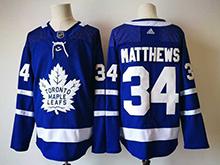 Mens Nhl Toronto Maple Leafs #34 Auston Matthews Blue Hockey Adidas Jersey