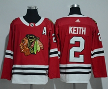 Mens Adidas Nhl Chicago Blackhawks #2 Duncan Keith Red Jersey