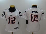 Women New England Patriots #12 Tom Brady White Vapor Untouchable Limited Jersey