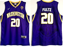 Mens Ncaa Nfl Washington Huskies #20 Markelle Fultz Purple College Basketball Jersey