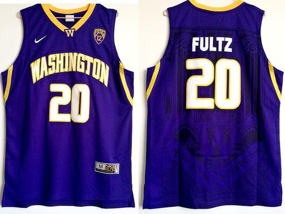 Mens Ncaa Nfl Washington Huskies #20 Markelle Fultz Purple College Basketball Jersey