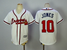 Youth Mlb Baltimore Orioles #10 Adam Jones White Cool Base Jersey
