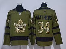 Mens Adidas Nhl Toronto Maple Leafs #34 Auston Matthews Green Hockey Jersey