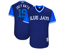 Mens Mlb Toronto Blue Jays #19 Jose Bautista ( Joey Bats) Majestic Royal 2017 Players Weekend Authentic Jersey