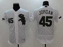 Mens Majestic Chicago White Sox #45 Michael Jordan White Stripe 2017 Memorial Day Flex Base Jersey