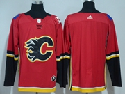 Mens Nhl Calgary Flames Blank Red Adidas Jersey