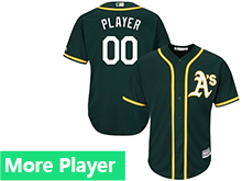 Mens Womens Youth Majestic Oakland Athletics Green Cool Base Current Player Jersey