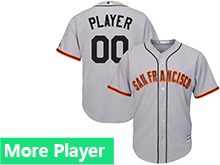 Mens Womens Youth Majestic San Francisco Giants Gray Cool Base Current Player Jersey
