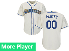 Mens Womens Youth Majestic Seattle Mariners Cream Cool Base Current Player Jersey
