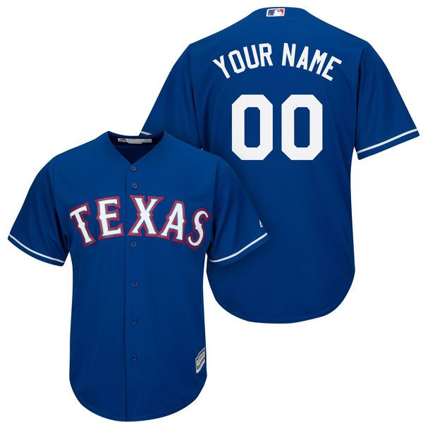 Mens Womens Youth Majestic Texas Rangers Blue Cool Base Current Player Jersey