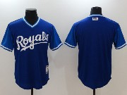 Mens Majestic Kansas City Royals Blank Blue 2017 Players Weekend Jersey