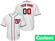 Mens Womens Youth Mlb Washington Nationals (custom Made) White Cool Base Jersey