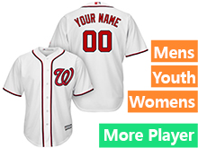Mens Womens Youth Majestic Washington Nationals White Cool Base Current Player Jersey